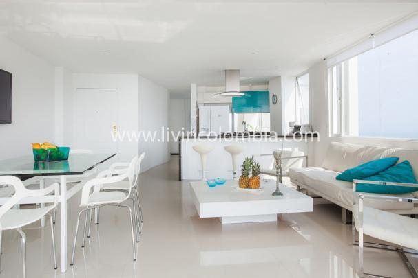 Hermoso apartamento ubicado en el Laguito, zona turística de Cartagena de Indias en Colombia. Ideal para unas vacaciones llenas de Lujo y Comfort.