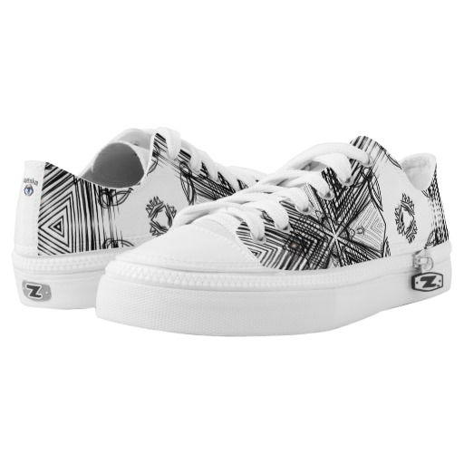 hand draw pattern printed shoes