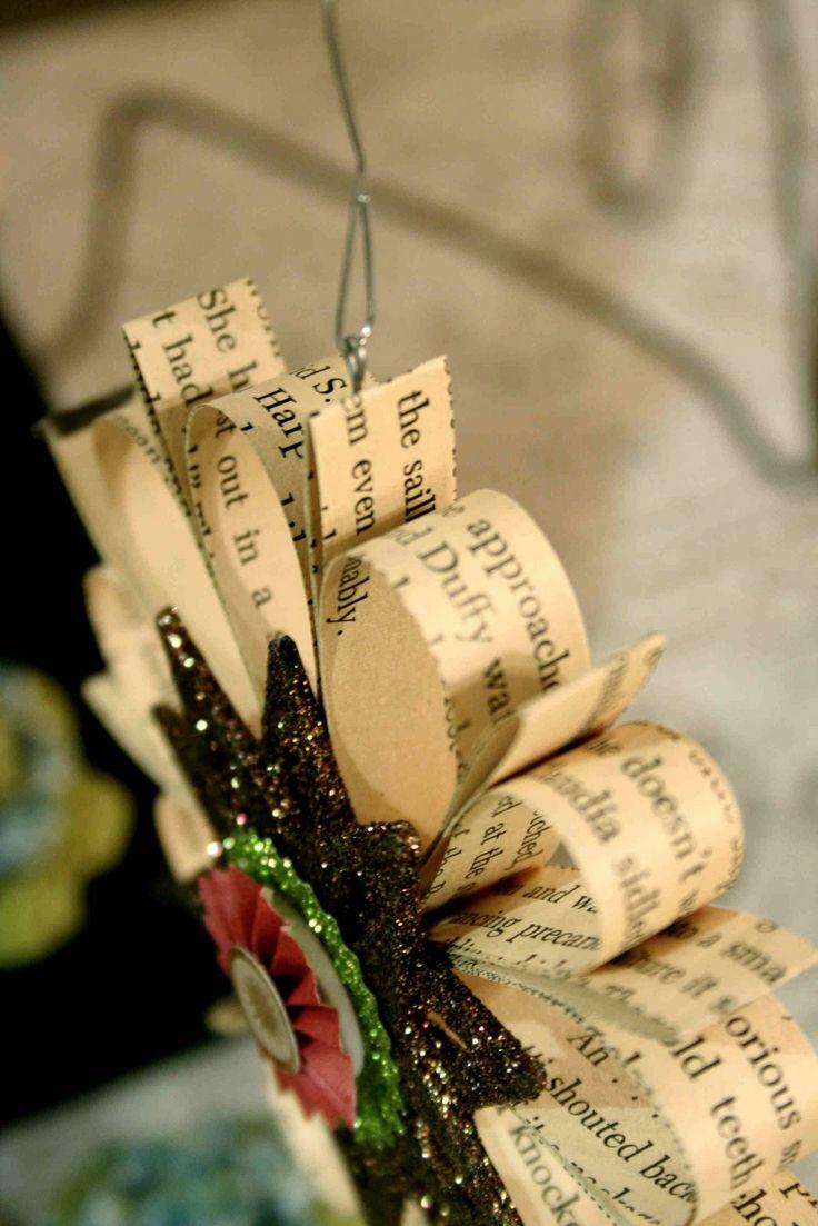 Library Ornament | Handmade christmas, Christmas tree ... |Library Book Ornaments