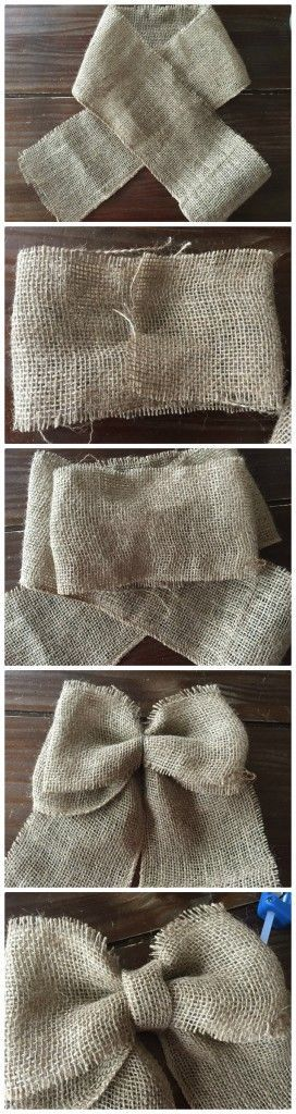 Country Crafts | DIY Bows tutorial- How to make a burlap bow #crafts