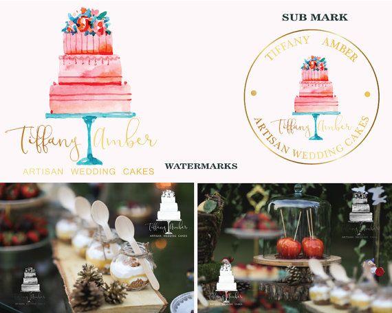 Premade Logo Logo Design Cake Logo Bakery Logo by LoveArtsStudio