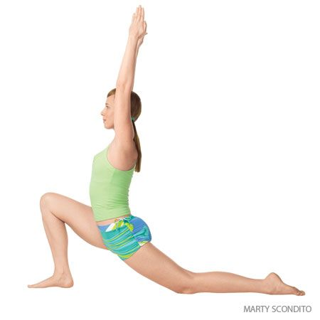 Low Lunge  (Anjaneyasana) with a straight spine.  With a backbend it is also a heart opener. But people with scoliosis are recommended to do supine tabletop as a heart opener instead