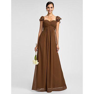 Dress+Sheath/Column+Sweetheart/Spaghetti+Straps+Floor-length+Chiffon+Dress+–+USD+$+89.99