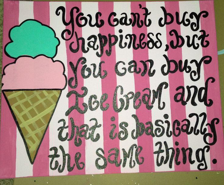 Ice Cream Painting by SwirlyQCanvas on Etsy, $50.00
