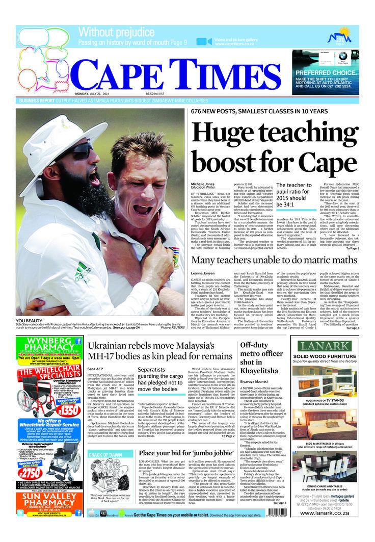 News making headlines: Hugh teaching boost for Cape