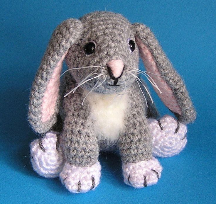 Pdf Crochet Pattern LITTLE GREY BUNNY van bvoe668 op Etsy