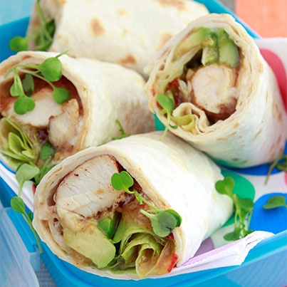 HomeChoice Chicken wrap
