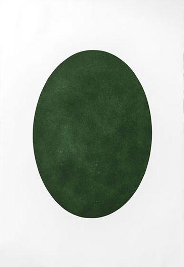 Òval verd 2014 - Mezzotint engraving green bladder 111 x 76 cm. (paper) 70 x 50 cm. (plate)Òval verd
