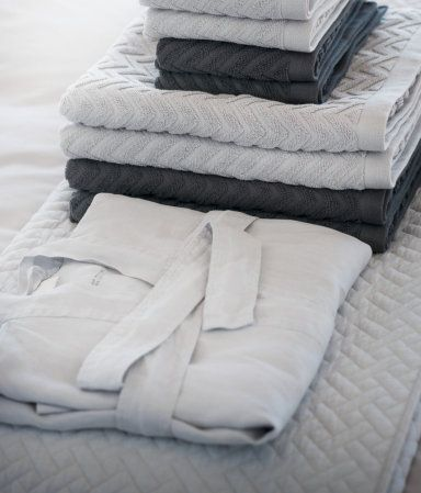 Linen Bathrobe | White | Home | H&M US