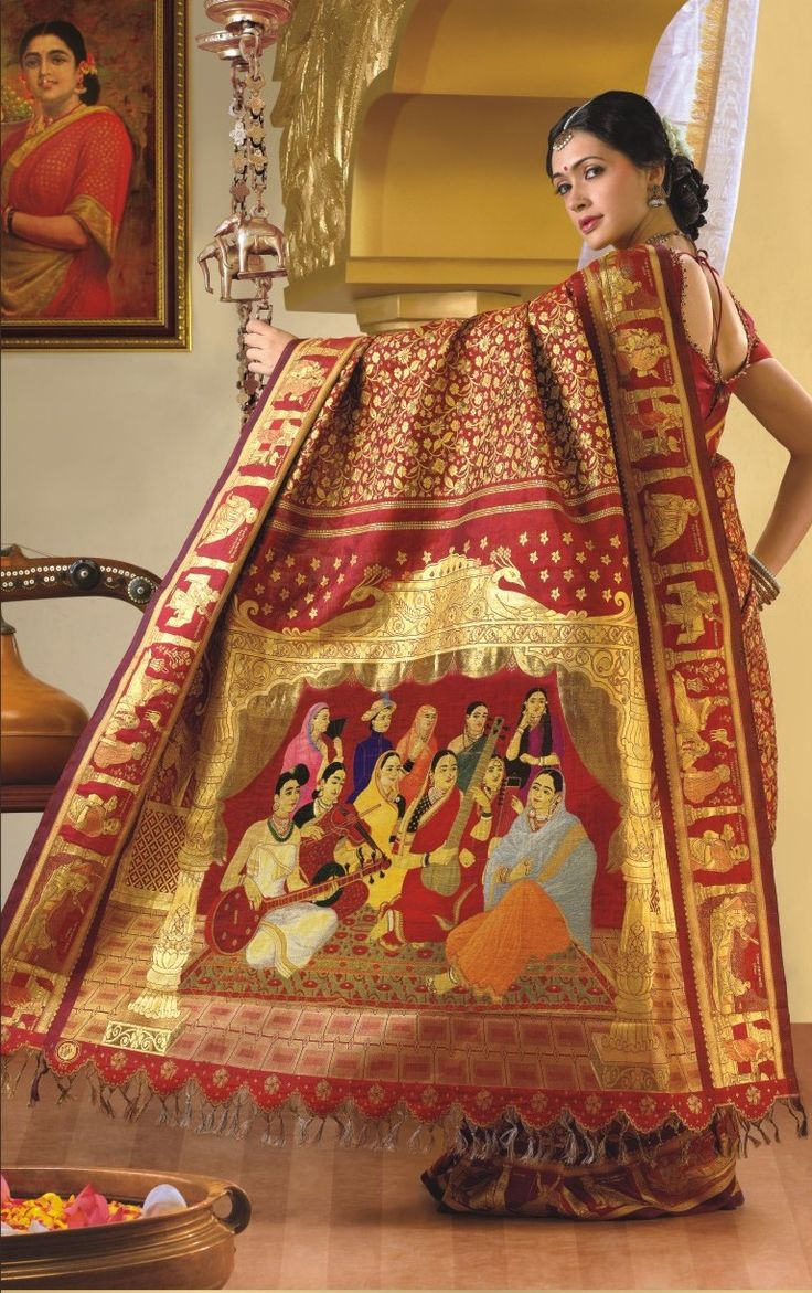 World's most expensive saree! The silk its self is over $100,000 !!!!!