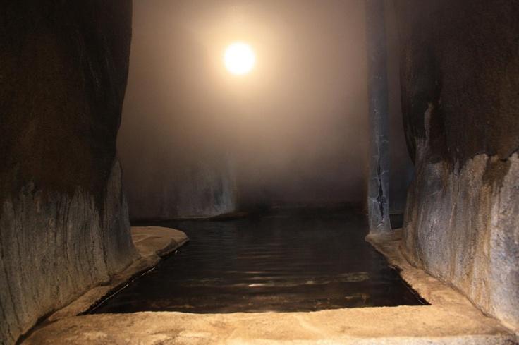 小田温泉 洞窟の湯  Ota hot spring in the cave