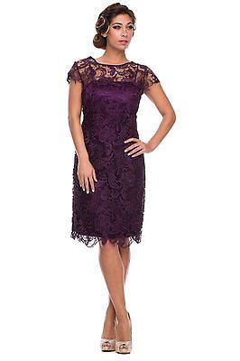 Vintage Lace Cap Sleeve Mother of the Bride Wedding Evening Dress Plus Size