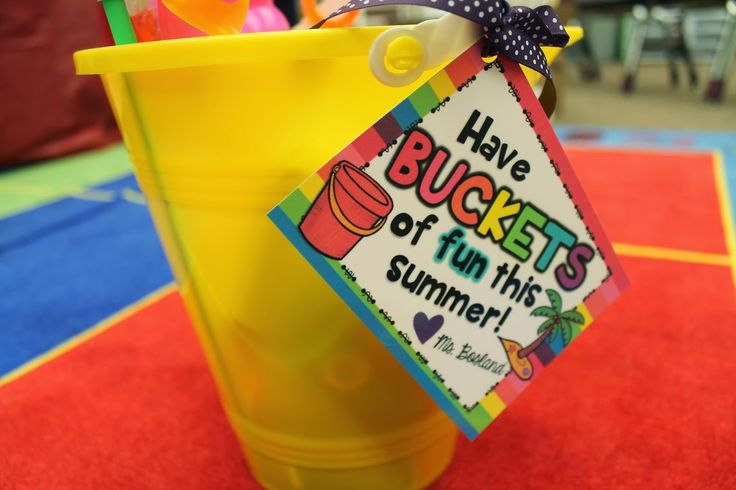 End of School Year - Student Gift! Buckets of Fun From: Keepin' It Kool In KinderLand