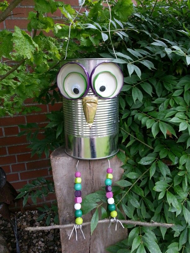 738 best images about can crafts on pinterest popcorn for Garten baum deko