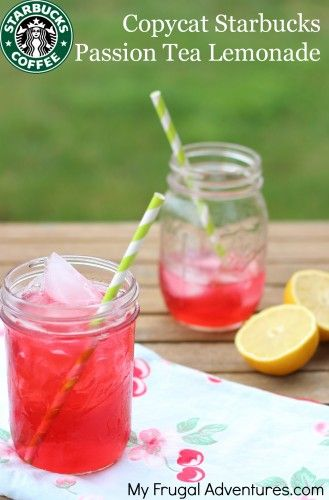 Copycat Starbucks Iced Passion Tea Recipe -- so easy and so delicious!  You really have to try this and you'll be hooked!