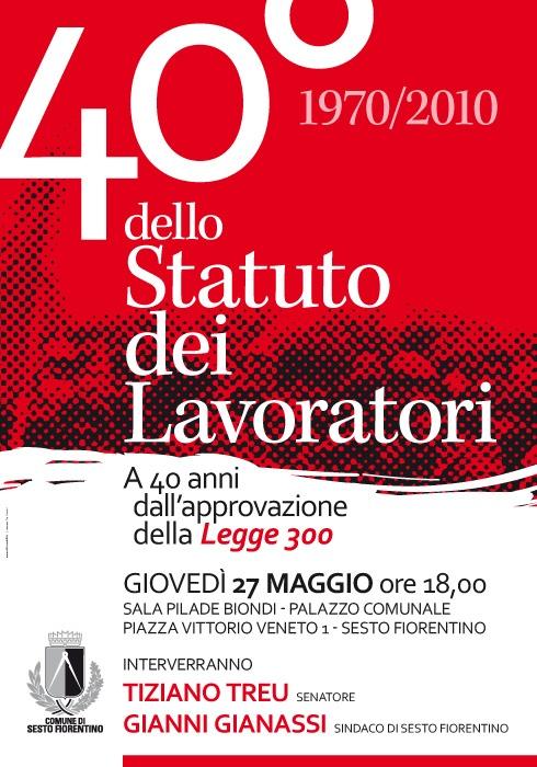Comune di Sesto Fiorentino | 40° dello Statuto dei Lavoratori