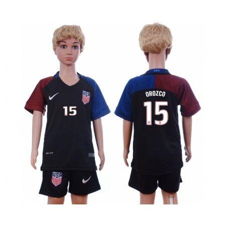 USA Trøje Børn 2016 #Orozco 15 Udebanetrøje Kort ærmer.199,62KR.shirtshopservice@gmail.com