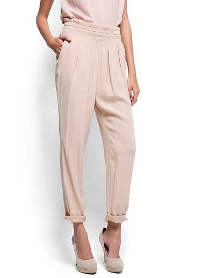 Smocked Waist Trousers