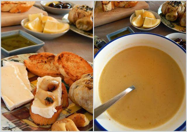 Pepi's kitchen: Κοτόσουπα, ψητό σκόρδο και τυρί μπρι
