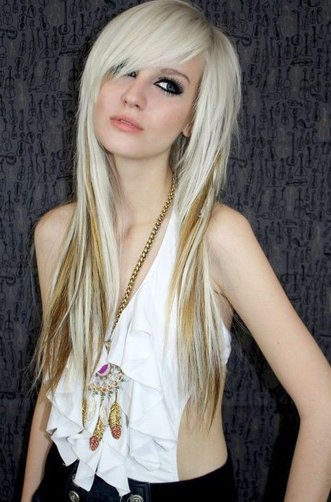 Girls with Emo Bangs for Long Hair | 2013 Long Scene Hairstyles for Girls | Hairstyles Weekly