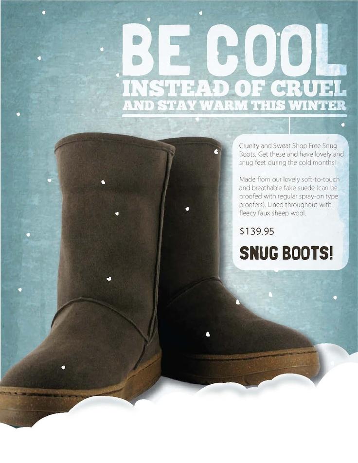 HET KAN. Love the alternatives! Vegan warme schoenen. Dus de warmte zonder t schaap :)
