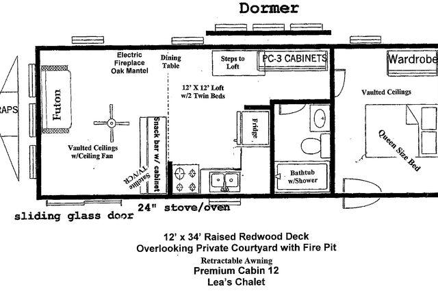 12 X 32 Cabin Floor Plans Cabin floor plans Floor plans