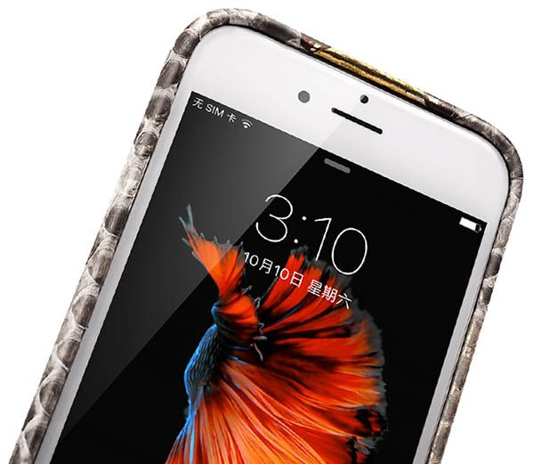 iCarer iPhone 6 Plus/6S Plus Python Leather Back Cover Series Genuine Leather Case