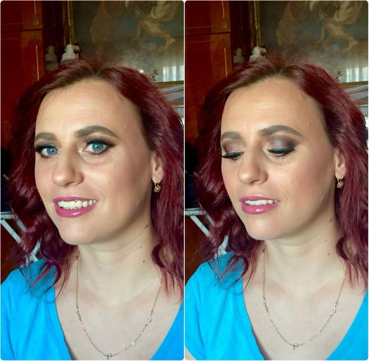 Evening makeup for Simona