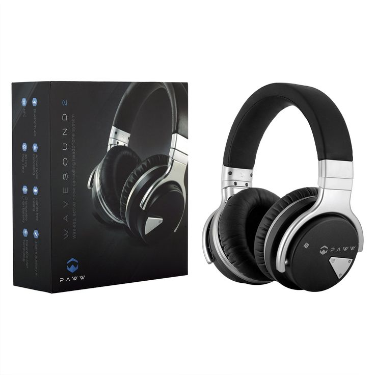 Paww Over Ear Headphones - Paww WaveSound 2 - Active Noise Cancelling Bluetooth Headphones with Custom Carry Case - Black. BEST HEADPHONES FOR QUALITY SOUND: Crafted using the latest noise minimizing technology, the Paww WaveSound 2 Bluetooth Headphones are key to enjoying your favorite tunes, movies and TV shows without noisy interruptions. ALL-IN-ONE HEADPHONES: Equipped with an onboard mic and audio controls, taking calls, controlling the volume and shuffling playlists or skipping…