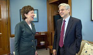Republican senator Susan Collins urges hearings on Obama's supreme court pick After meeting with Merrick Garland, Maine lawmaker says she is 'more convinced than ever' that appointment process 'should proceed'