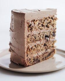 Chocolate-Flecked Layer Cake with Dark Chocolate Frosting - Martha Stewart Recipes