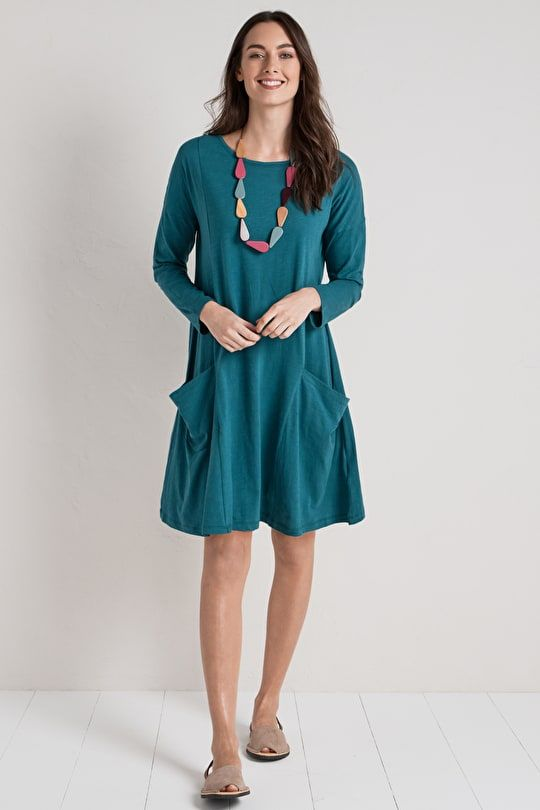 ae66f4981796 Soft Cotton Swing Dress. In Smart Breton Stripes - Seasalt