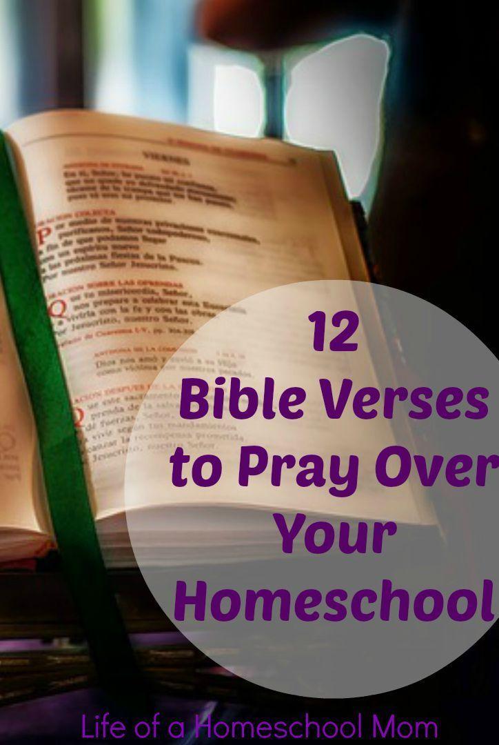 12 Bible Verses to pray over your homeschool