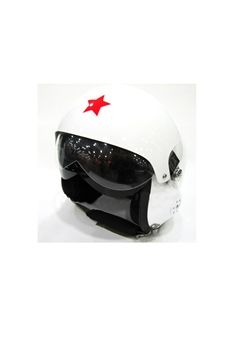 Open Face White Motorcycle Jet Pilot Helmet ! Buy Now at gorillasurplus.com