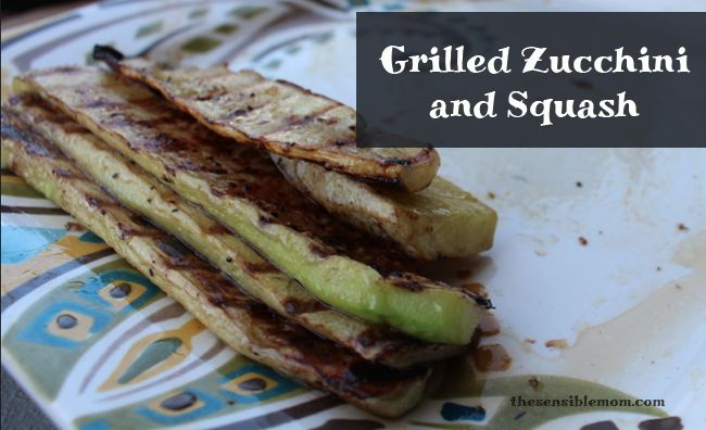 Grilled zucchini and squash for easy summer time grilling.
