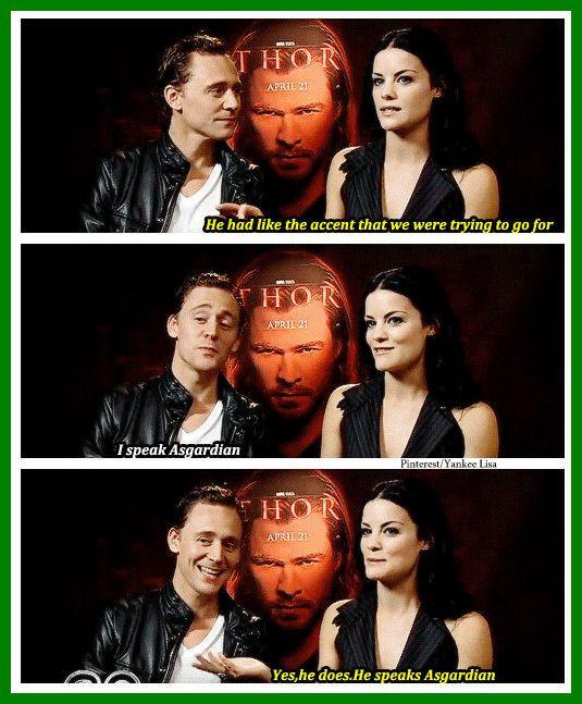 Haha! Tom Hiddleston, so proud of himself.