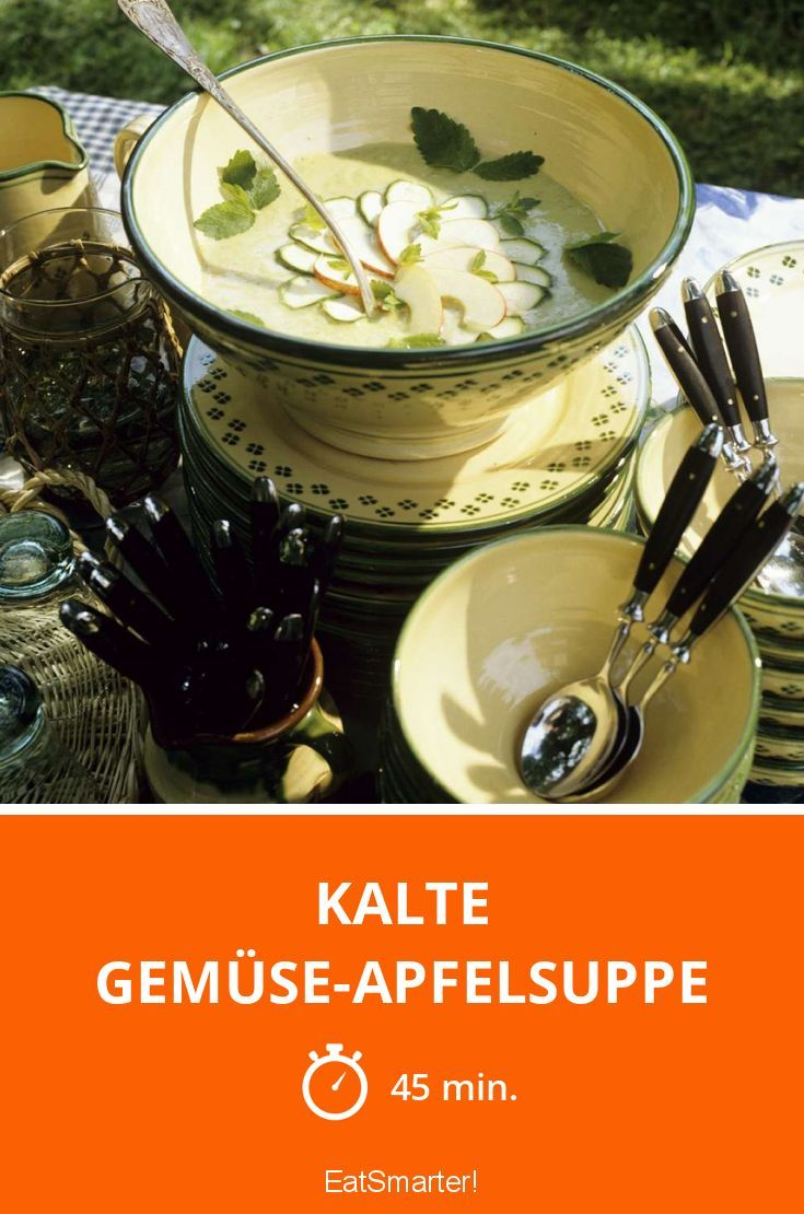 Kalte Gemüse-Apfelsuppe - smarter - Zeit: 45 Min. | eatsmarter.de