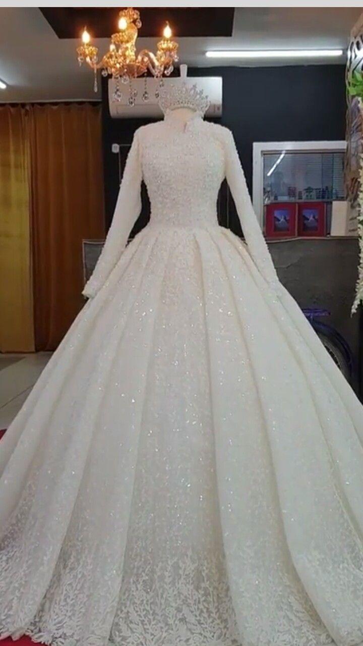 Tesettur Elbise Modelleri 2020 2020 The Dress Boncuklu Gelinlik Gelin Stili