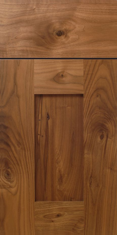 Rustic Walnut Shaker Cabinet Door Design with Stiles and Rails | WalzCraft