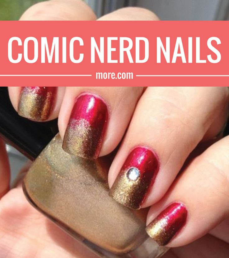 If you're a big superhero or comic book junkie, you've got to try these nerdy nails ASAP.