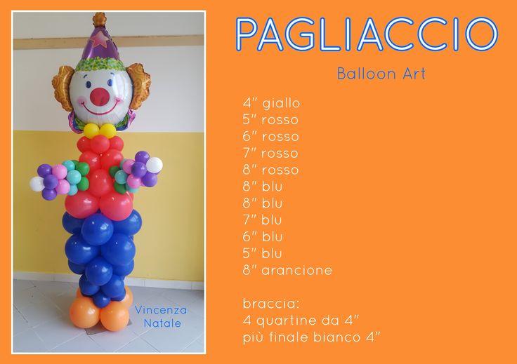 Pagliaccio con palloncini - Clown balloon art