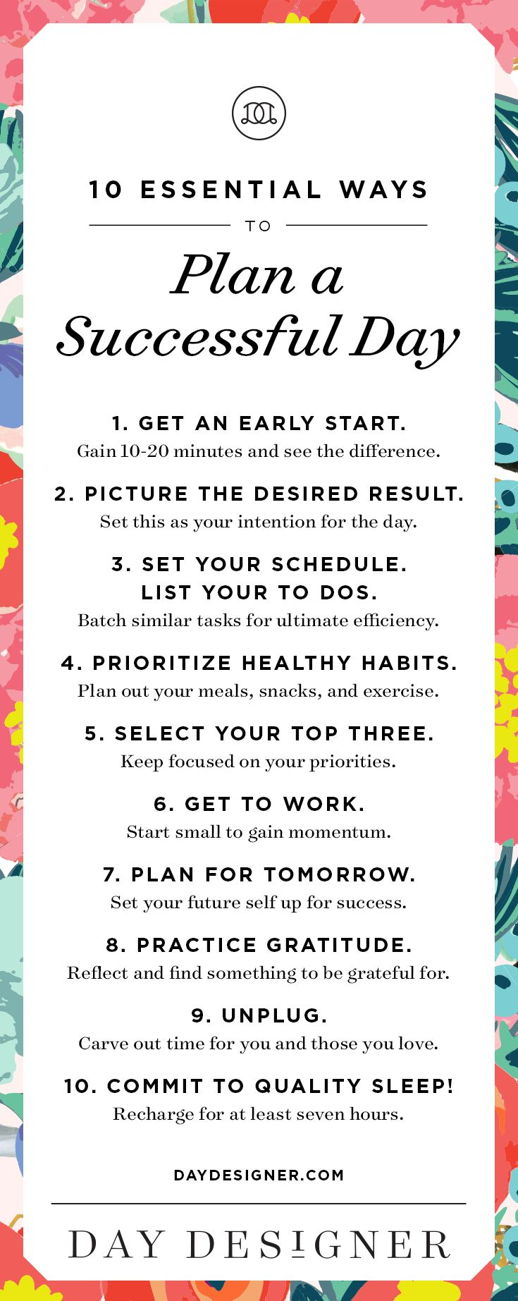 10 Essential Ways to Plan a Successful Day   Day Designer   The strategic planner and daily agenda for living a well-designed life.