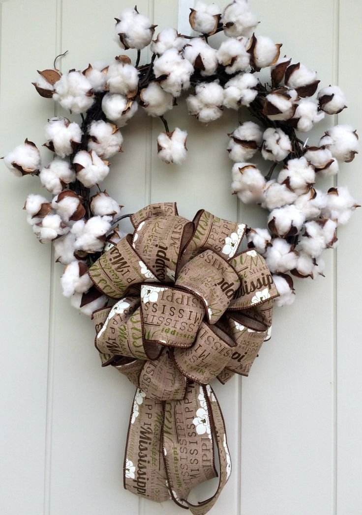 Cotton boll wreath,Louisiana wreath,Mississippi wreath,South Carolina Wreath,North Carolina Wreath,Alabama wreath,Georgia wreath,Tennessee w by DatDixieDecor on Etsy