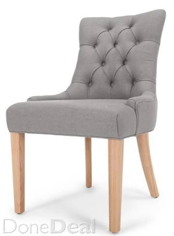 6 x New Deep Buttoned Dining Chairs