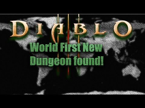 Diablo 3 [PTR Patch 2.4.1]World First ►New Dungeon found!!! - YouTube