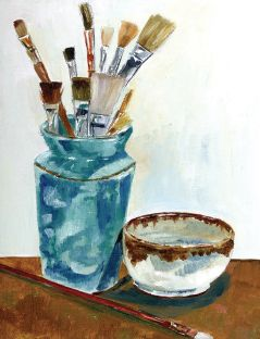 Oil painting instrument | www.drawing-made-easy.com | #oilpainting #instrument