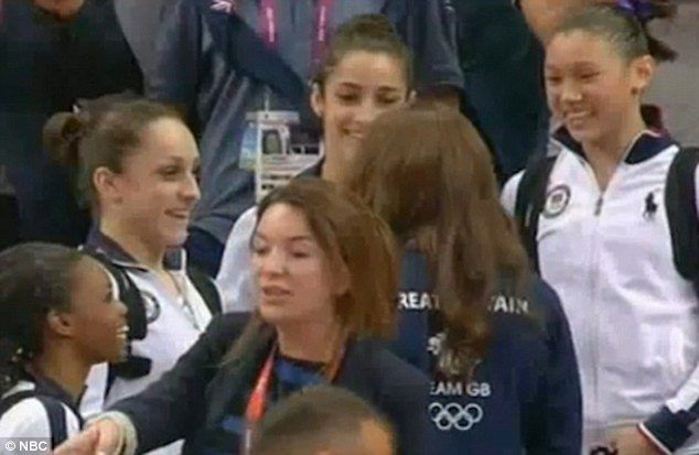 Golden charm: Princess Kate, an ambassador for Team GB pictured here in a team jacket, has kept a busy Olympic schedule and has proven to be a lucky charm for British athletes. The girls' faces were priceless when she approached them!