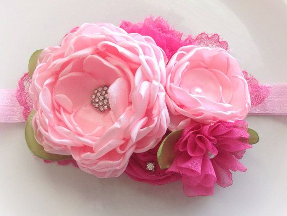 Pretty in pink by JensBowdaciousBows on Etsy, $18.95