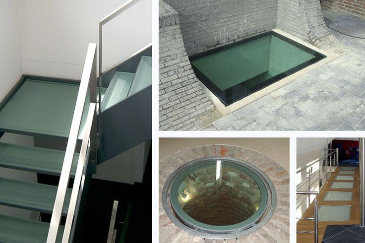 Beloopbaar glas badkamer plafond of trap ❤❤❤
