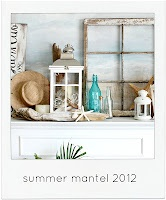 love this summer beach mantle
